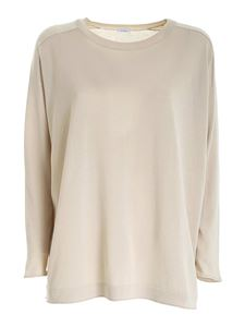 malo - Crewneck sweater in beige