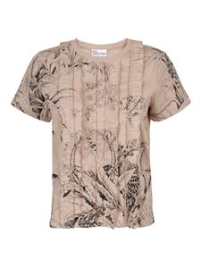 Red Valentino - T-shirt with ruffles in beige
