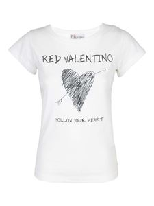Red Valentino - Follow Your Heart T-shirt in white