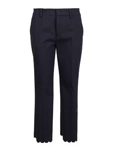 Red Valentino - Chino trousers with scalloped hem in blue