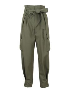 Red Valentino - Cargo carrot fit trousers in army green