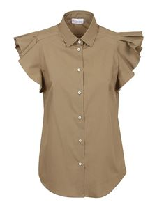 Red Valentino - Flounced sleeves shirt in Army