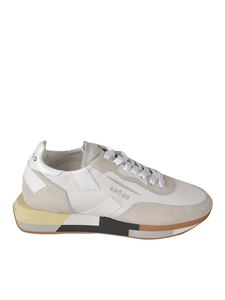 Ghoud Venice - Suede and fabric sneakers in white