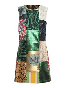 Dolce & Gabbana - Patchwork embroideries mini dress in multicolor