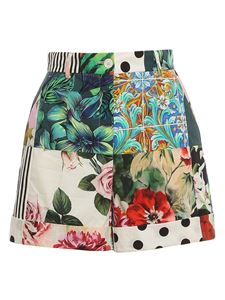 Dolce & Gabbana - Shorts con stampa patchwork multicolor