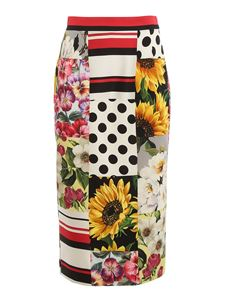 Dolce & Gabbana - Patchwork patterned skirt in multicolor