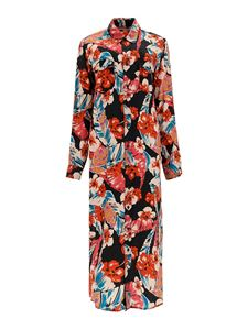 Saint Laurent - Floral print shirt-dress in multicolor
