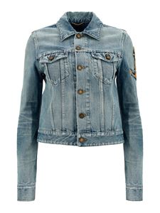 Saint Laurent - Anchor denim jacket in light blue