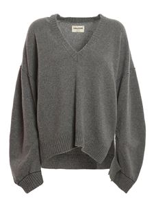 Zadig & Voltaire - Wool and cashmere sweater in grey