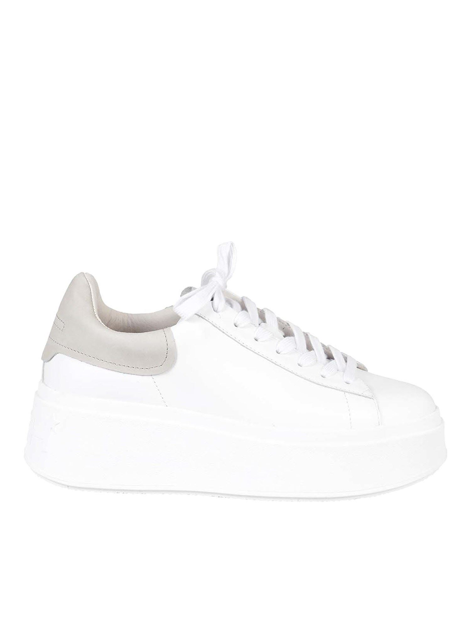 Ash Platforms MOBY SNEAKERS IN WHITE
