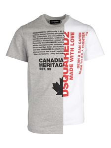 Dsquared2 - Two-tone T-shirt in grey and white