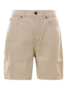 Semicouture - Denim Bermuda shorts in beige