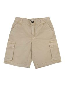 Woolrich - Cotton cargo bermuda shorts in beige