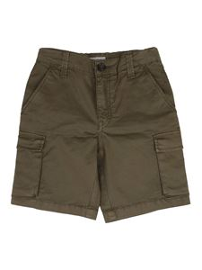 Woolrich - Cotton cargo bermuda shorts in green