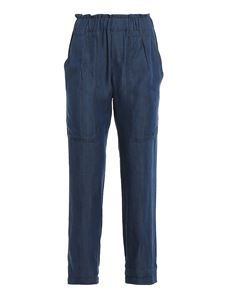 Paolo Fiorillo - Denim blue wide leg pants