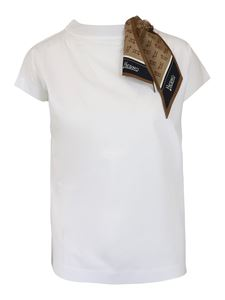 Herno - Scarf detailed T-shirt in white