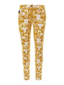 Versace Jeans Couture - Baroque printed jeans in white