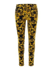 Versace Jeans Couture - Baroque printed jeans in black