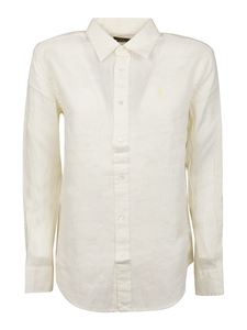 POLO Ralph Lauren - Logo embroidery shirt in white