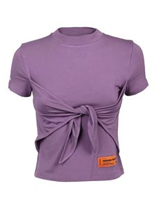 Heron Preston - Knotted T-shirt in purple