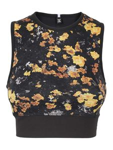 McQ Alexander Mcqueen - Floral print cropped top in black