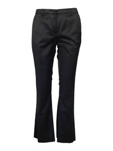 PT Torino - Cotton viscose blend chino trousers in black