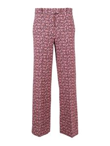 Circolo 1901 - Floral-print trousers in pink