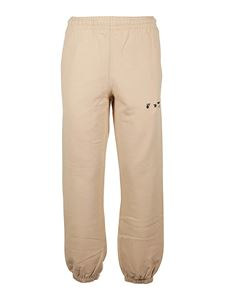 Off-White - Cotton sweat pants in beige