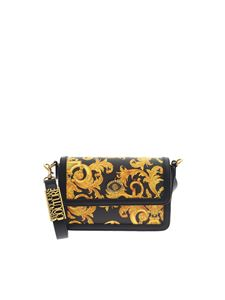Versace Jeans Couture - Logo Baroque print bag in black