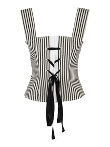 Philosophy di Lorenzo Serafini - Striped tank top in black and white