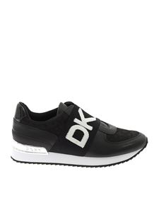 DKNY - Contrasting logo sneakers in black