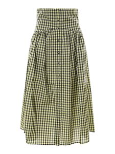 Philosophy di Lorenzo Serafini - Vichy skirt in yellow and green