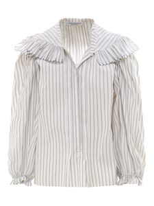 Philosophy di Lorenzo Serafini - Striped shirt in white