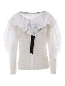 Philosophy di Lorenzo Serafini - Broderie anglaise embroidered shirt in white