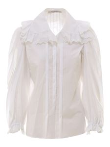Philosophy di Lorenzo Serafini - Ruched shirt in white