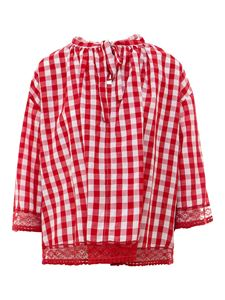 Semicouture - Vichy blouse in red and white