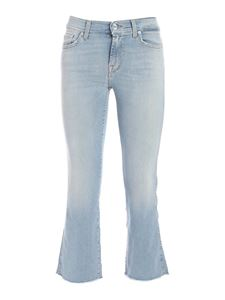 7 For All Mankind - Cropped Boot jeans in blue