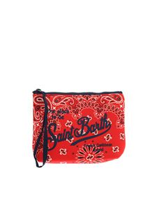 MC2 Saint Barth - Logo Aline pouch in red
