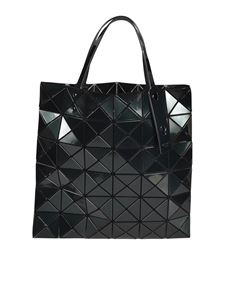 BAO BAO Issey Miyake - Geometric design shopper bag in dark green