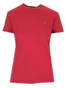 Vivienne Westwood  - Orb logo embroidery t-shirt in red