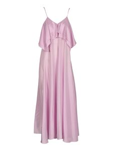 Forte Forte - Long habotai dress in shell color