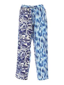 Pierre-Louis Mascia - Printed pants in white and blue
