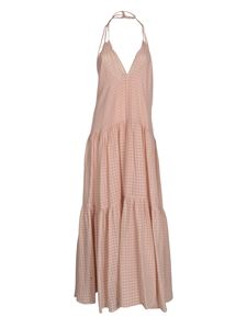 Forte Forte - Long checked dress in pink