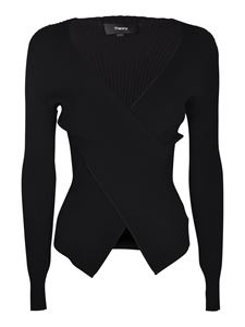 Theory - Wrap sweater in black
