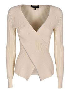 Theory - Wrap sweater in ivory
