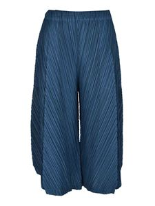 PLEATS PLEASE Issey Miyake - Thicker Bottoms 1 pants in blue