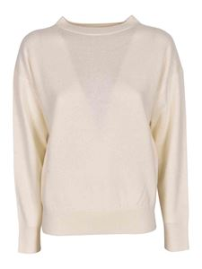 Tanakanytyo - Cashmere and linen sweater in ivory color