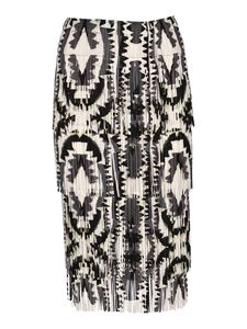 PLEATS PLEASE Issey Miyake - Zigzag skirt in black and white