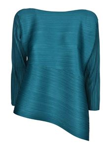 PLEATS PLEASE Issey Miyake - Vein blouse in teal color