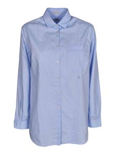 massimo alba - Uma cotton shirt in light blue